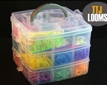 Rainbow loom DIY kit three layer moster tail kit 3000 rubber bands