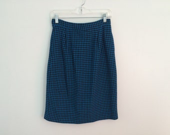 CLEARANCE SALE 1980s Indie Hipster liz claiborne houndstooth geometric abstract skirt