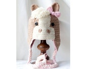 Custom Crocheted Horse Hat