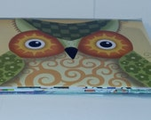 Six A-6 Simply Owls Envelopes with Notecards