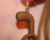 Ebola Virus Earrings Sterling Ear Wires Polymer Clay Micro Organism