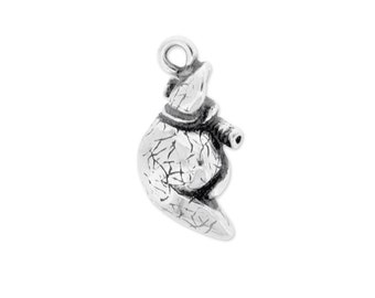 Liver Pewter Charm Pendant Necklace Anatomical 3D Healing Milagro Cancer