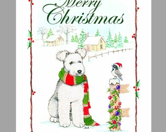 Pumi 'white' Christmas Cards Box of 16 Cards and 16 Envelopes