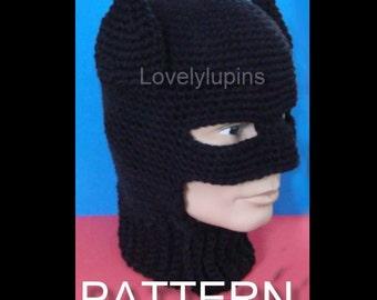 batman hat, crochet batman hat, batman pattern, crochet pattern, Batman skullcap, chapeau homme, beanie batmanpattern
