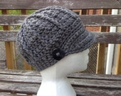 Women's Grey Visor Hat - READY to SHIP
