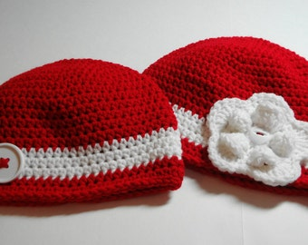 Detroit Red Wings Hockey Beanie Hat (fits newborn to adult)