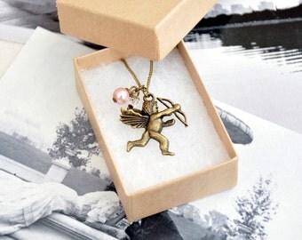 Valentine Cherub Pendant Necklace