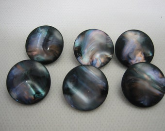 Pearl Shank Button  Irridescent Lot of 6