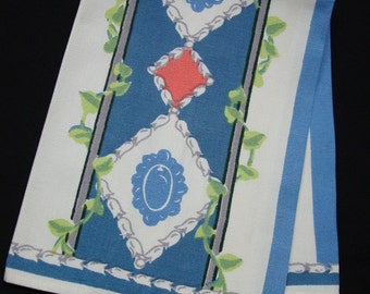 Fabulous Vintage 1940's Guest Towel, Great Color and Design (No. 2)