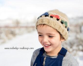 Dump Truck Hat Knitting Pattern - Boy Themed Hat Knitting Pattern - Toddler Hat Knitting Pattern - Baby Clothing Knitting Pattern