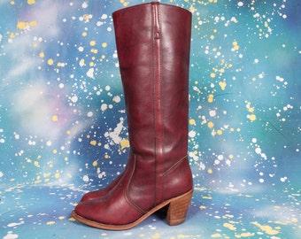 DEXTER Tall High Heeled Boots Size 8