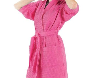 Plus Size Bridesmaid Robes Bridesmaids Robes Bridal Robes Monogrammed Waffle Weave Robe for Wedding Party Bride Robes Wedding Robes