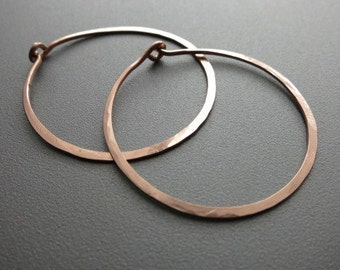 "Rose Gold Hoop Earrings 1.25""Diameter"