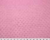 READY TO SHIP --Hot Pink Dot Minky Changing Pad Cover--