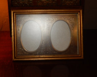 Vintage Double Embossed Metal Matting and Frame