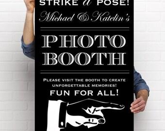 Printable Wedding Reception Photo Booth Sign