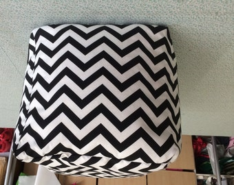 Black and  White Chevron Ottoman Pouf Cover Teen Room, Living Room Nursery Room With Filling Included
