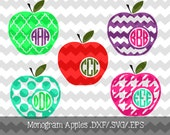 Monogram Frame Apples .DXF/.SVG/.EPS File for use with your Silhouette Studio Software