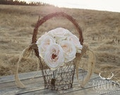 Rustic Flower Girl Basket Chicken Wire Flower Girl Basket Rustic Chic Wedding Barn Wedding #DownInTheBoondocks