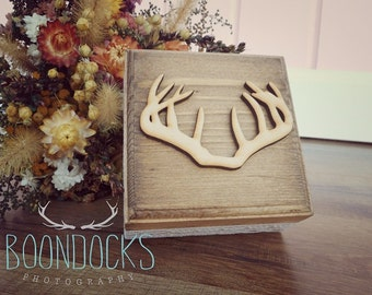 Antler Ring Box Wedding Ring Box Wood Keepsake Box Rustic Wood Box Down In The Boondocks