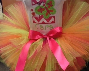 Butterflies & Flowers tutu Great for newborn photos, 1st birthdays, photography props, costumes and dance and much more