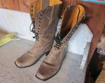 wmns sz 8 N leather boots, mexico, handmade,amazing boots