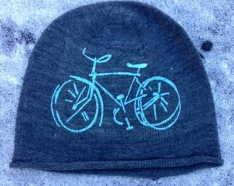 bike Hat, Bicycle Hat, Beanie, Gift for a Guy
