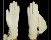 Vintage 1950s Gloves  . NOS  .  NOS . Rockabilly .  Mod Gown Wedding Garden Party Mad Men Cocktail Prom