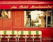 """Paris photography, Paris bistro, Paris in Red - """"Au Petit Montmartre"""""""