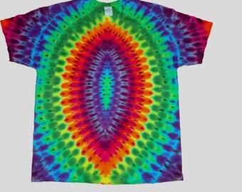 Tie Dyed Oval Rainbow Tee Shirt