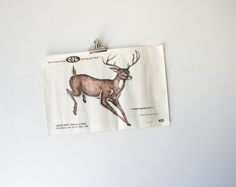 Vintage Running Buck Paper Shooting Target