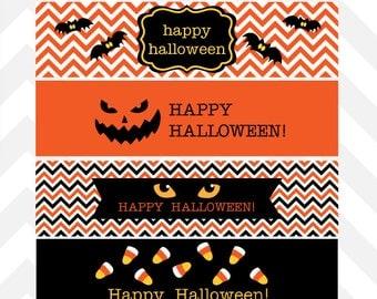 Halloween Water Bottle Labels  Printable ~ Instant Download!