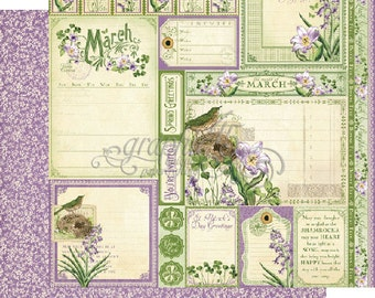 """BOTH March Pages - Graphic 45 """"Time to Flourish""""  ** See Discounted Shipping Note**"""