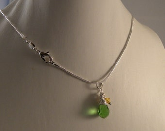 Oregon Ducks Elegant Briolette Pendant and Earrings