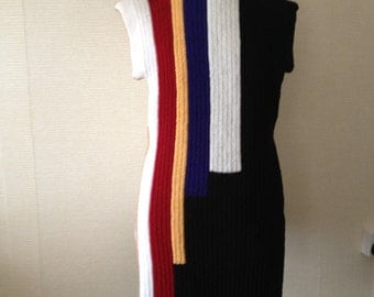 Knitted Sleeveless Dress.Knitted Tunic/Dress .Women's Knitwear.