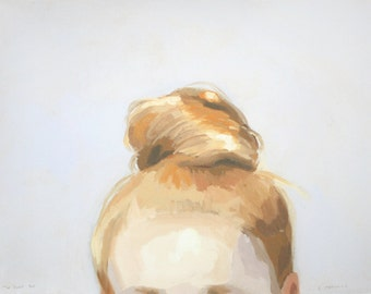 "8x10"" hair art - bun print - ""Top Knot 44"""