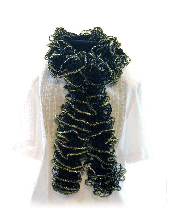 Knit Ruffle Scarf Pattern Starbella : Ruffle Scarf-Handmade Knitted-Premier Yarn by birthstonegifts