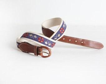 Men's Cotton Nautical Belt Size 40