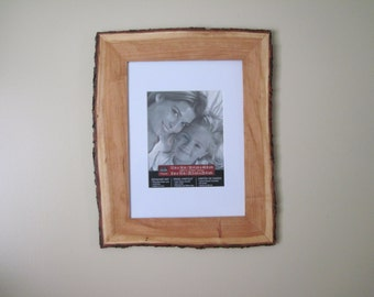 Natural Edge Picture Frame Cherry wood bark edge picture frame Rustic Wood picture frame Cherry wood Photo frame art frame