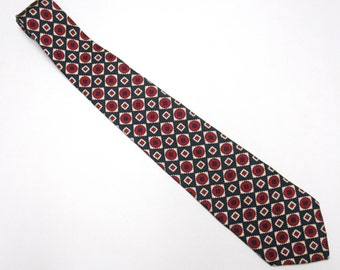"""Red Blue Necktie 4"""" Wide Tie Silk Tommy Hilfinger"""