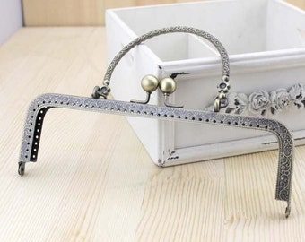 20cm(7.87inch) antique bronze sewing metal purse bag frame A239