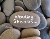 60 Wedding Stones Wish Stones Guest Book Stones Memorial Stones Flat Beach Stones Flat Rocks Craft Stones Message Rocks - LARGE 1.7 - 2 inch