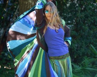 Super Ubber Awesome Custom Kaleidoscope gypsy  faery  patchwork  upcycled  recycled sweater coat