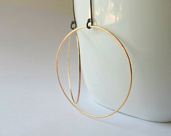 Large gold hoops, gold hoop earrings, gold earrings,  hoop earrings, gold jewelry, 14k gold, modern