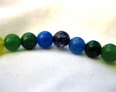 Blue and Green Mixed Stone Bracelets