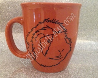 Guinea Pig - Cavy Love Mug - Abyssinian - Long haired pig