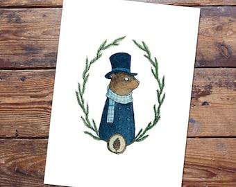 Mr. Groundhog Original Painting