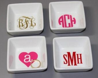 Monogrammed Ring Dish - Personalized Ring Dish - Jewelry Dish - Monogram Gift
