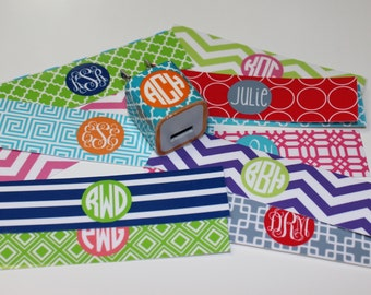 Personalized iPhone Charger Wrap -  Monogrammed Charger Wrap - Choose Your Designs