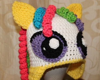 Pretty Pony Crochet Hat Pattern PDF - Instant Download